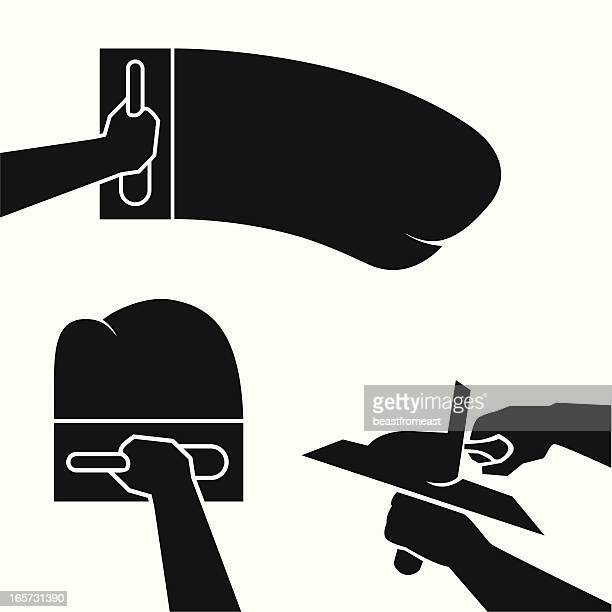 Masonry Trowel Black And White : Trowel stock illustrations and cartoons getty images
