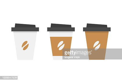 Plastic coffee cup : stock vector