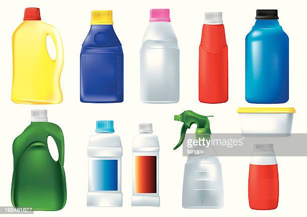 Kunststoff Waschmittel Flaschen