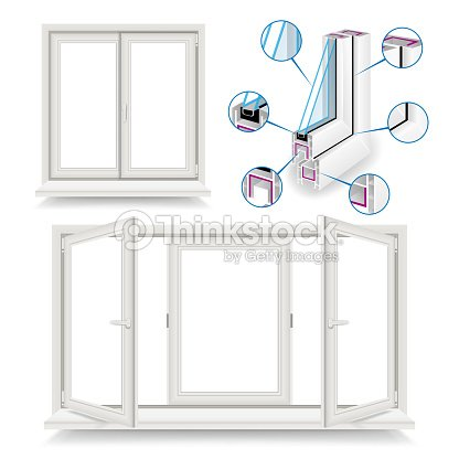 Plastic Window Vector Infographic Template Plastic Window Frame ...