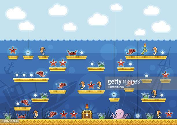2D Platformer Computer Game Under the Sea