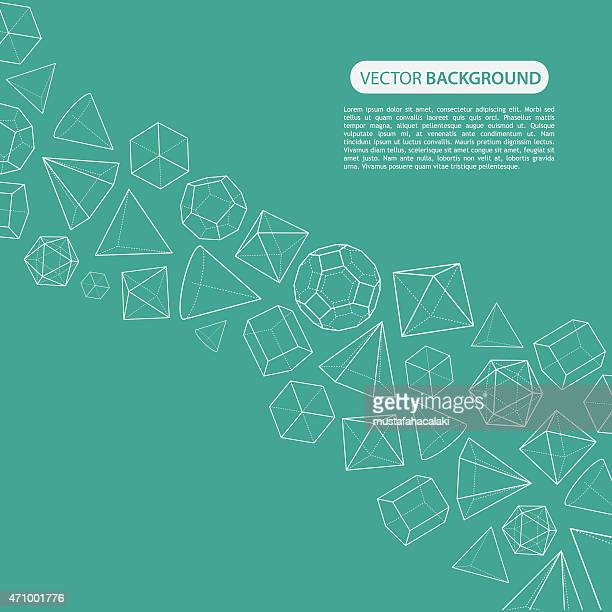 Platonic solids flow background