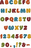 Playful and colorful, these bouncy alphabet shapes are useful and fun for many purposes!