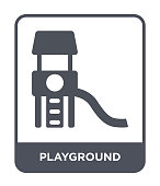 playground icon vector on white background, playground trendy filled icons from Entertainment and arcade collection