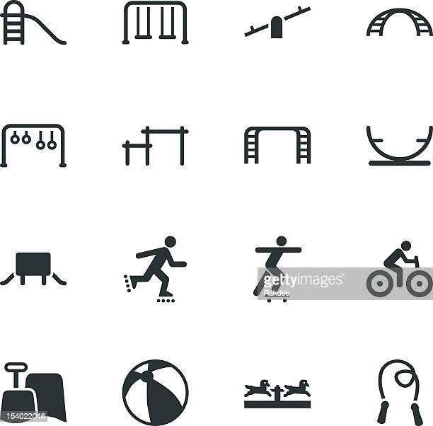 Spielplatz Silhouette Icons