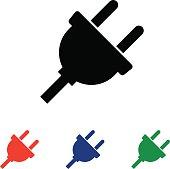 plug icon isolated on white background