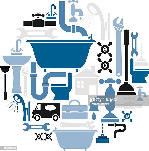 Plumbing Icon Set