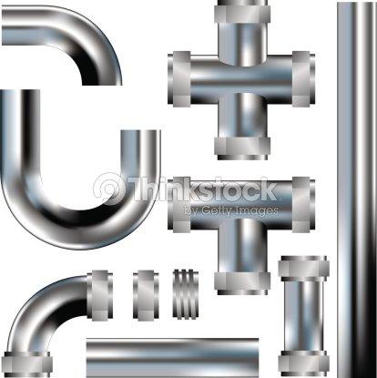 Plumbing Pipe Seamless Pattern Kit Vector Art Thinkstock