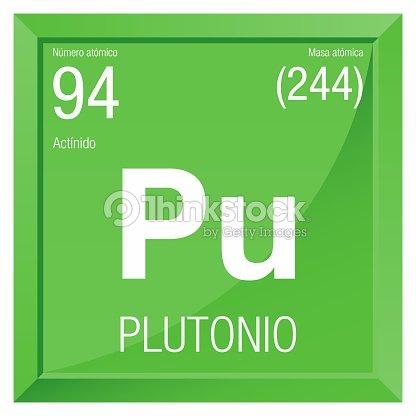 Plutonio Symbol Plutonium In Spanish Language Element Number 94 Of