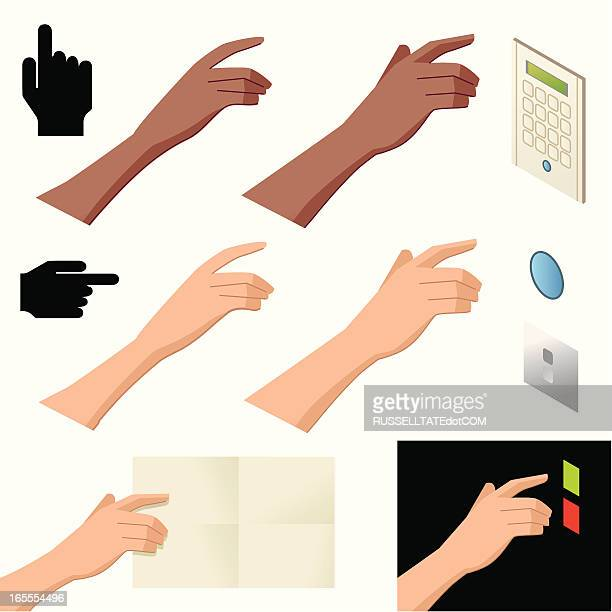 Pointing and Pressing Fingers