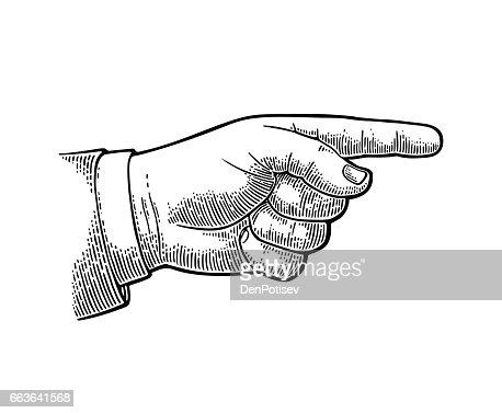 Zeigefinger. Handzeichen für Web, Plakat, Infografik : Vektorgrafik