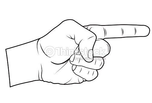 Illustration pointant main clipart vectoriel thinkstock - Dessin de doigt ...
