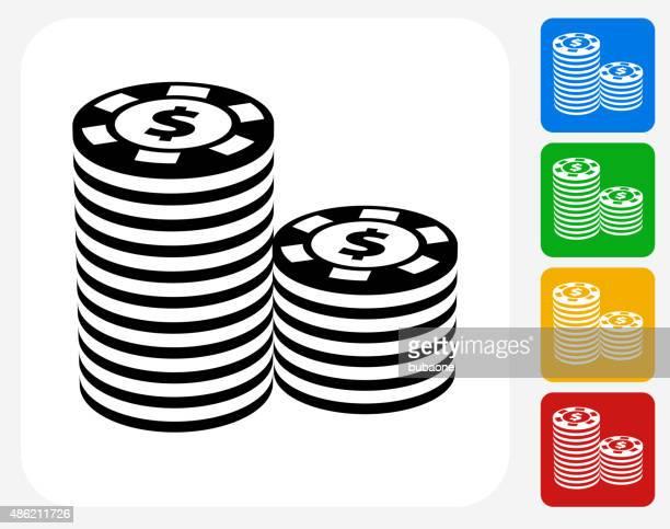 Icon poker chip