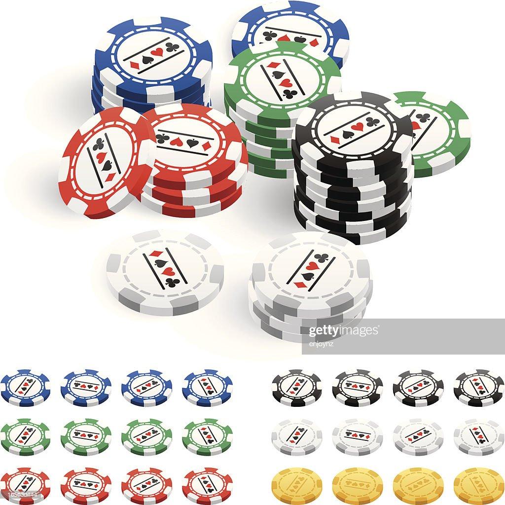 Poker chips : Vector Art