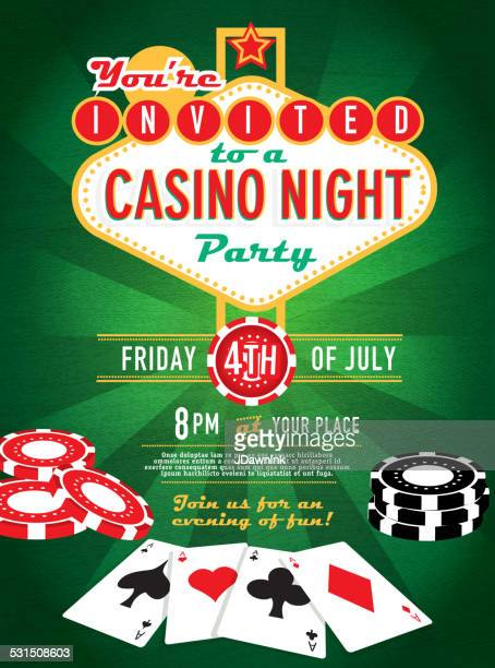Poker game night invitation design