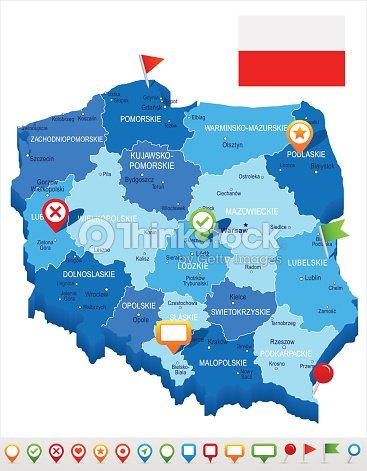 Poland Map And Flag Illustration Vector Art | Thinkstock