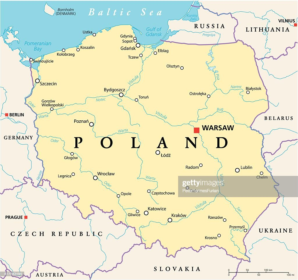 Poland Political Map Vector Art Thinkstock