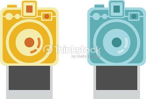 Camera Vintage Vector Free : Polaroid camera and frame vintage camera vector polaroid vector