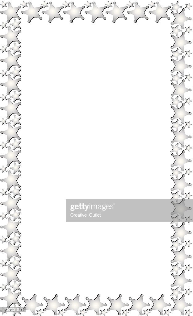 Police Badges Frame Vector Art | Getty Images