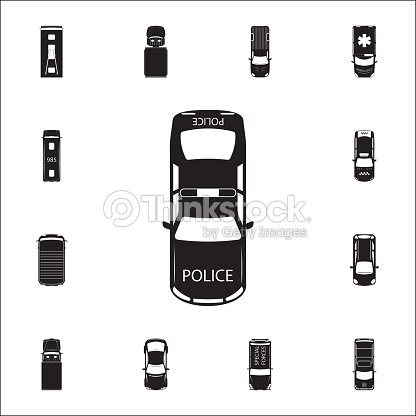 Police Car Icon Detailed Set Of Transport View From Above Icons