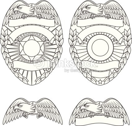 Police Department Badges And Design Elements stock vector