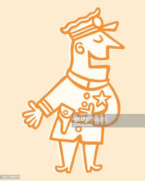 Policeman Gesturing