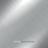 Polished metal texture - vector metal background for your design.