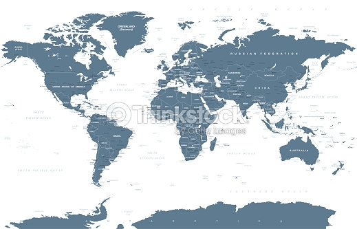 Political grayscale world map vector vector art thinkstock political grayscale world map vector vector art gumiabroncs Image collections