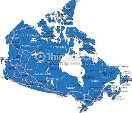 Political Map Of Ontario Canada.Political Map Of Canada Stock Vector Thinkstock