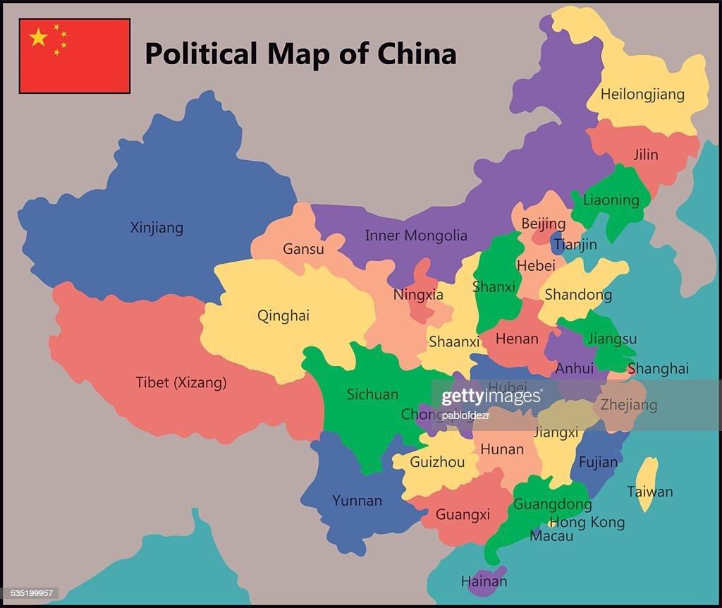 Political Map Of China Vector Art Thinkstock