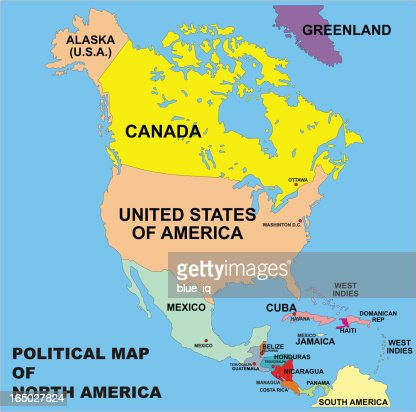 North America Map Vector Art Getty Images - The north american map