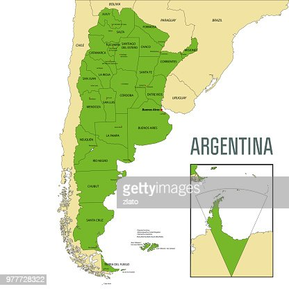 Political Vector Map Of Argentina Vector Art Thinkstock
