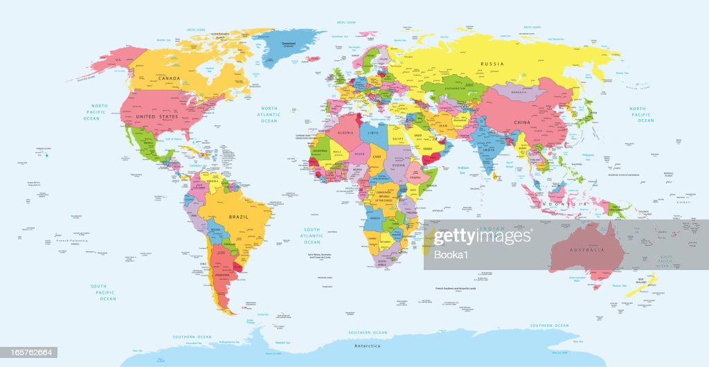 Political World Map Vector Art Getty Images