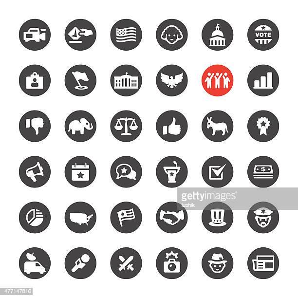 Politica e di governo icone vettoriali