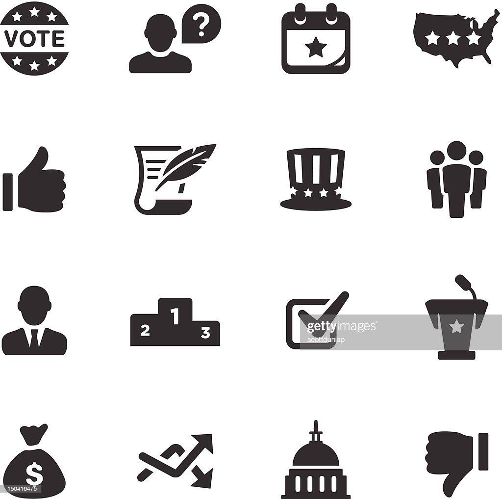 Politics Icons | Mono Series : Vector Art