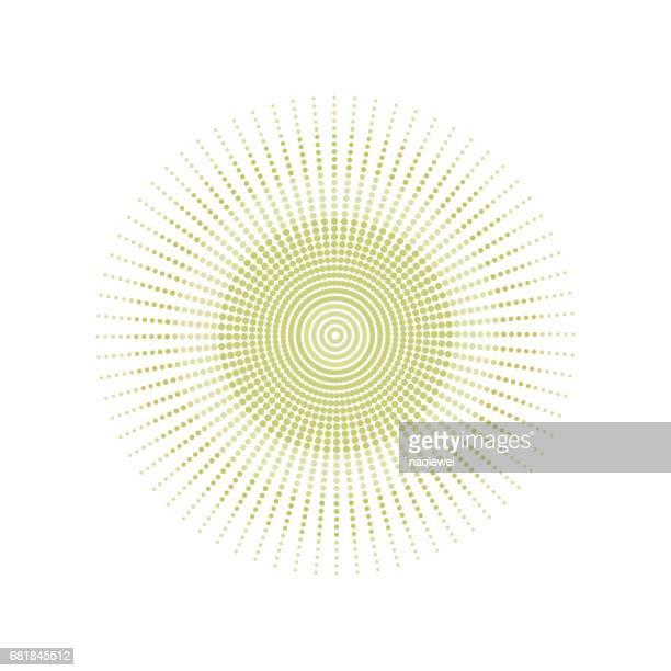 Polka dots circle pattern vector