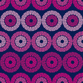 Polka dots seamless pattern. Mosaic of ethnic figures. Patterned texture. Geometric background. Can be used for wallpaper, textile, invitation card, wrapping, web page background.