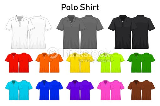 f11d4887b Polo Shirt Color Collection Set For Your Design Mockup Advertising ...