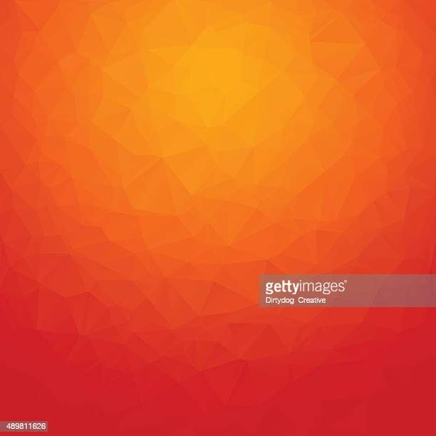 Polygon abstract background orange