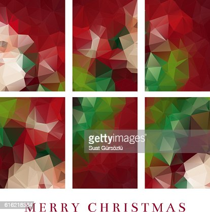Polygon Christmas Greeting Card : Clipart vectoriel