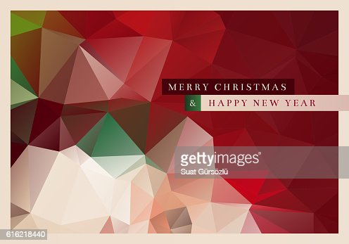 Polygon Christmas Greeting Card : Vectorkunst