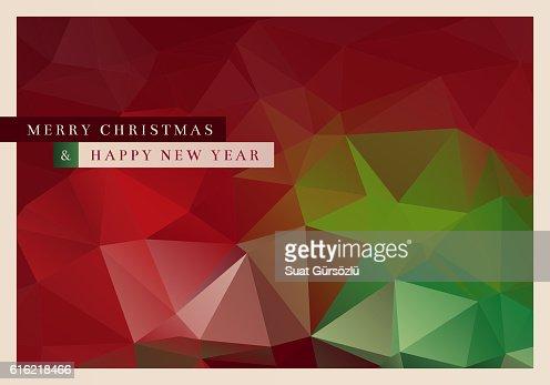 Polygon Christmas Greeting Card : Vector Art