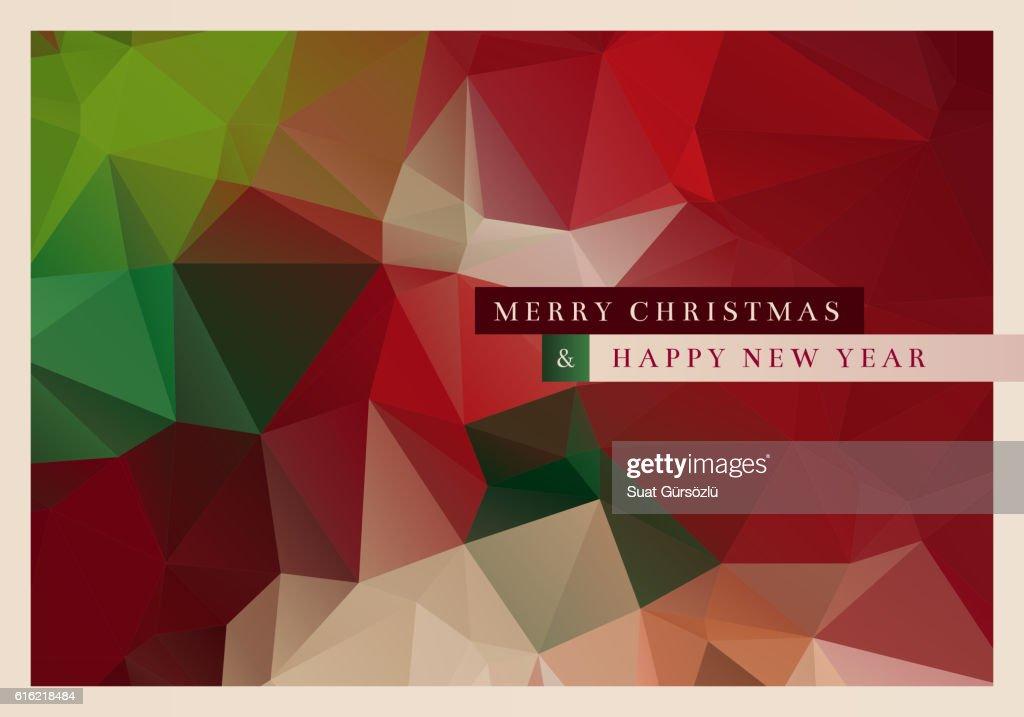 Polygon Christmas Greeting Card : Vectorkunst