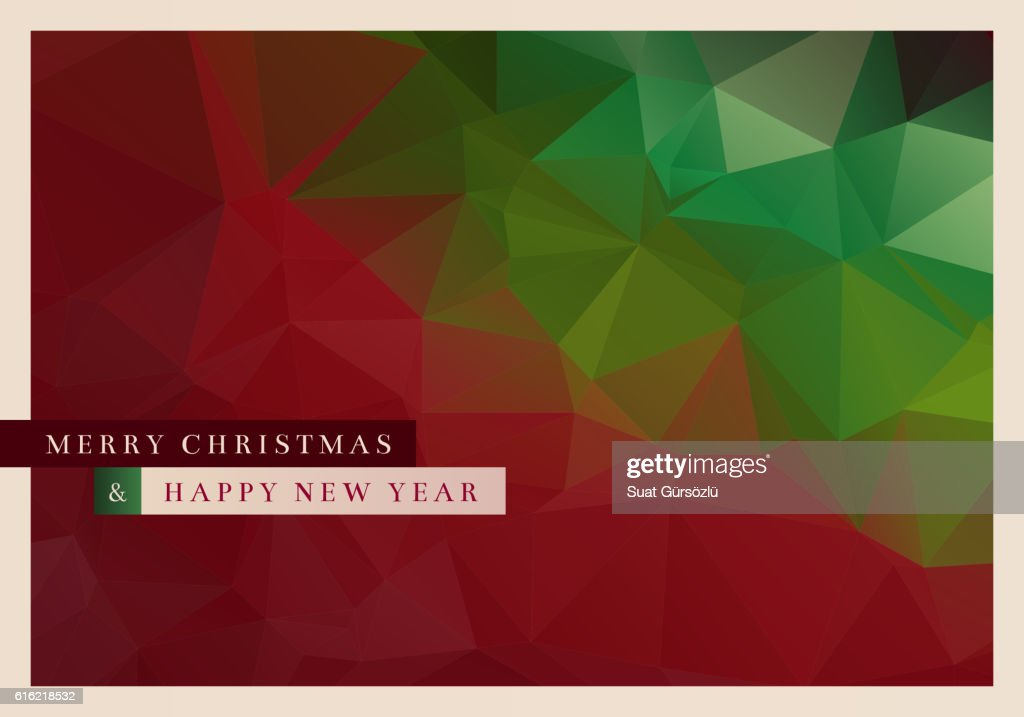 Polygon Christmas Greeting Card : Arte vettoriale