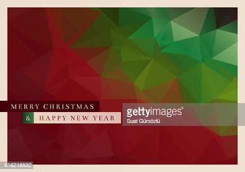 Polygon Christmas Greeting Card : ベクトルアート