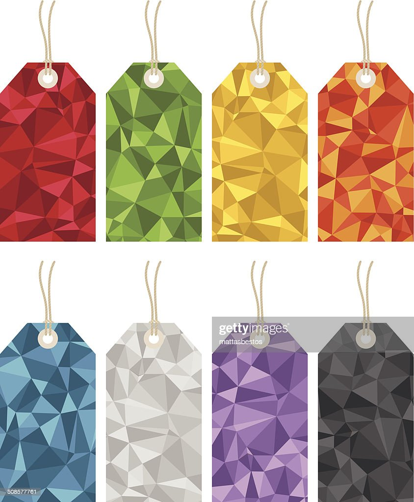 polygon gift tags : Vector Art
