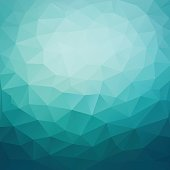 Polygonal abstract geometric dark blue triangular low poly style gradient background vector illustration