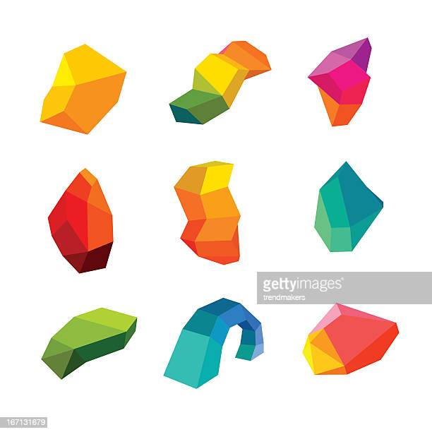 Polygonal Abstracts Set