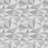 Polygonal geometric background. Gray seamless pattern. Vector illustration