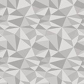 Polygonal geometric background. Gray seamless pattern. Vector illustration